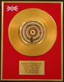 "IRON MAIDEN - 24 Carat Gold 7"" Disc - RUN TO THE HILLS"